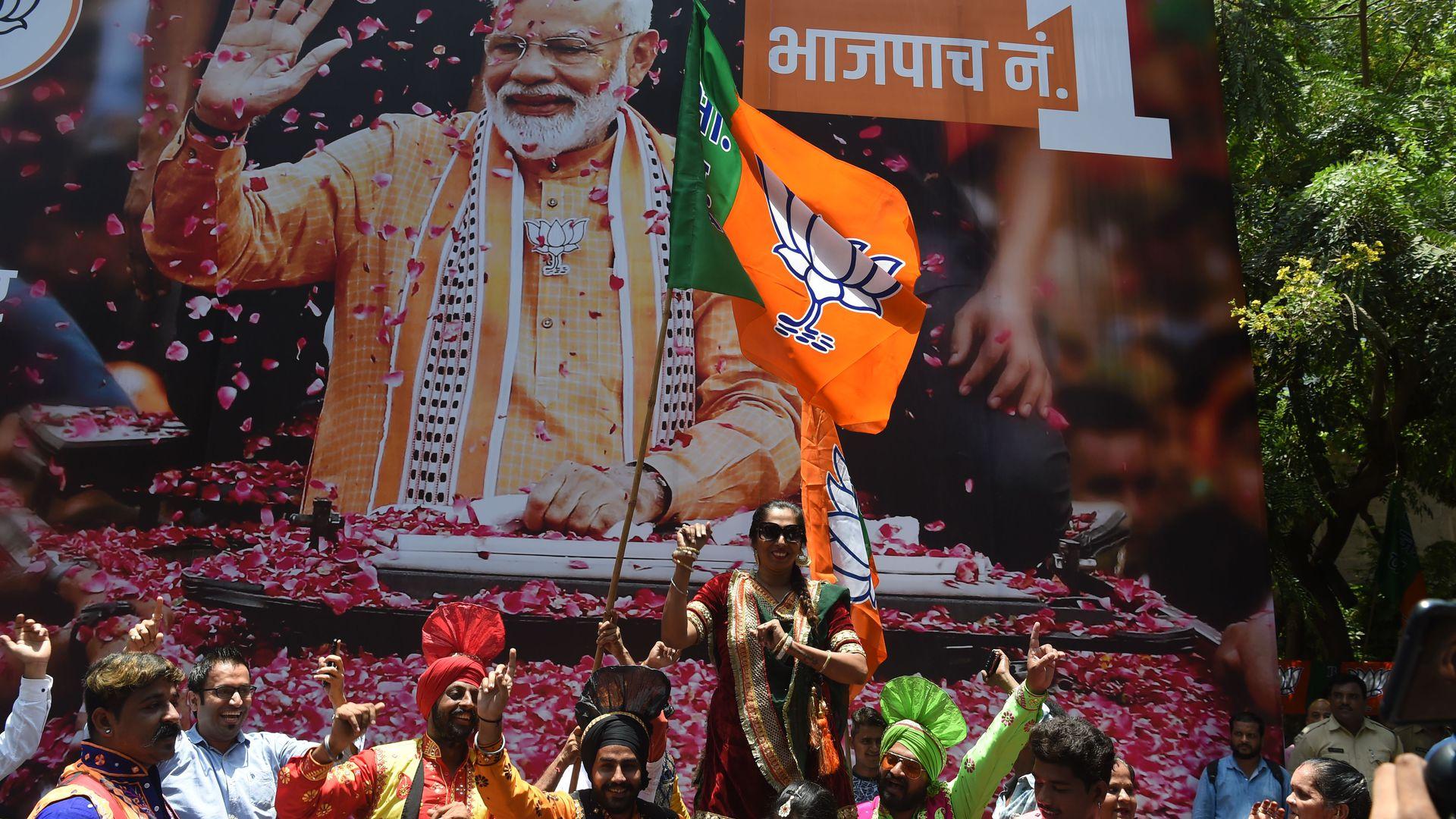Narendra Modi wobory w indiach